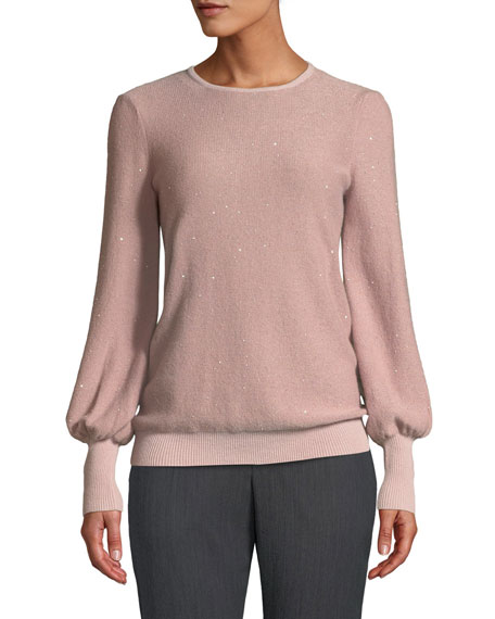 Neiman Marcus Cashmere Collection Cashmere Sequined