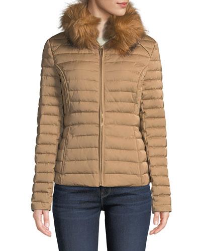 Refined Faux-Fur Puffer Jacket