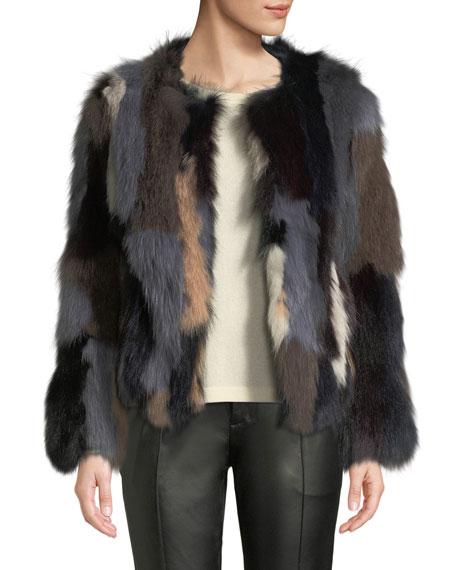 bb0cb4493960 Image 1 of 4  Multicolor Fox Fur Jacket