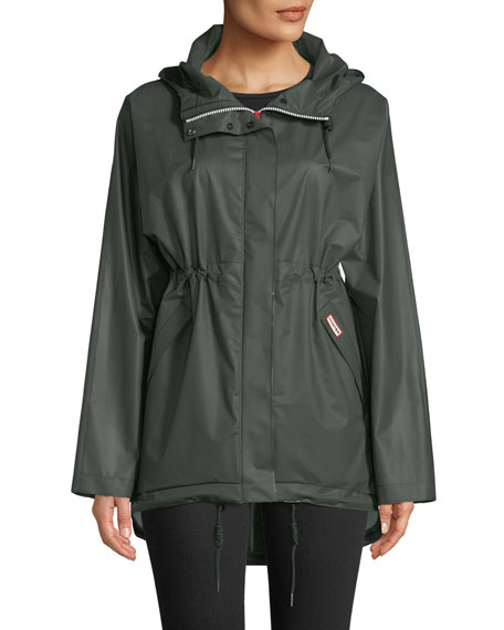 Hunter Boot Waterproof Drawcord Vinyl Smock Rain Jacket