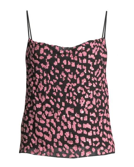 Alice + Olivia Harmon Embellished Drapey Slip Tank