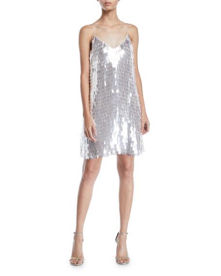 Alice + Olivia Contessa Embellished V-Neck Dress