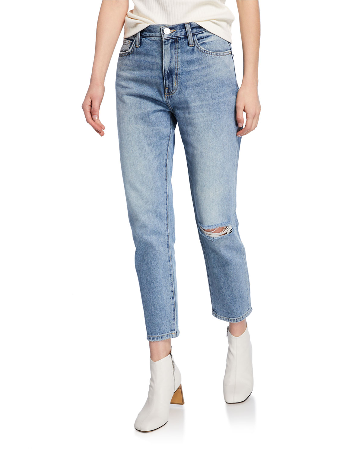 ff5accae5b3771 Current/Elliott The Vintage Cropped Straight-Leg Jeans | Neiman Marcus