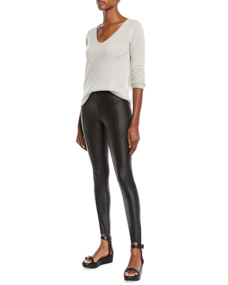 ATM Anthony Thomas Melillo Glazed Jersey Stirrup Leggings