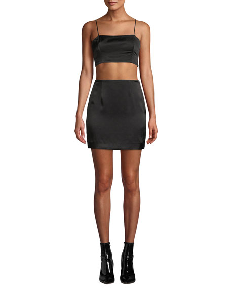 Fame and Partners The Axel 3-Piece Crop Top, Skirt & Jacket Set