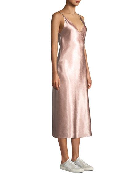 0ca71a98c7d7 Vince Bias V-Neck Midi Slip Dress   Neiman Marcus