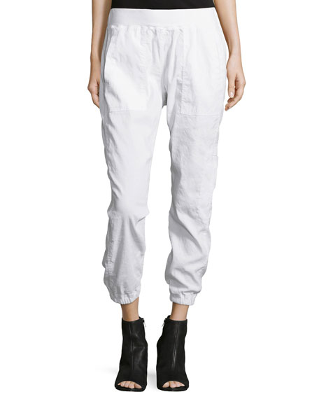 Eileen Fisher Linen-Blend Cargo Ankle Pants