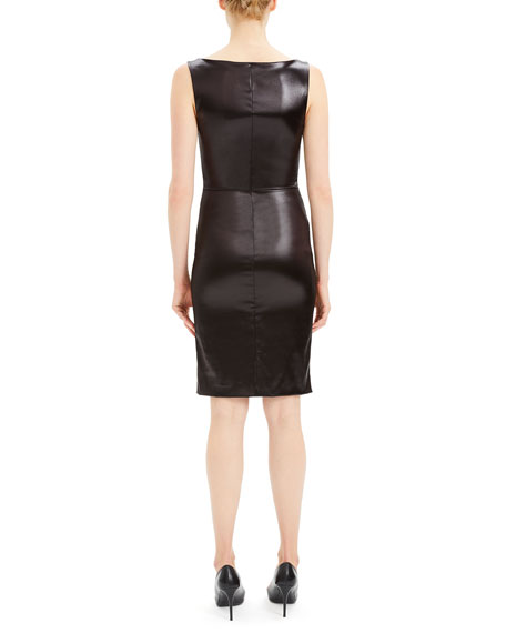 Theory Chintz Fitted Scoop-Neck Knee-Length Dress