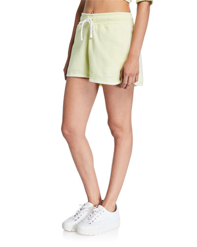 NSW Drawstring Cotton Shorts  Green