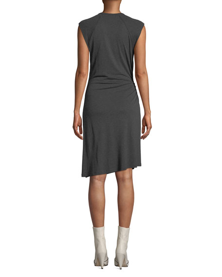 A.L.C. Hartwell Sleeveless Side-Cutout Ruched Dress