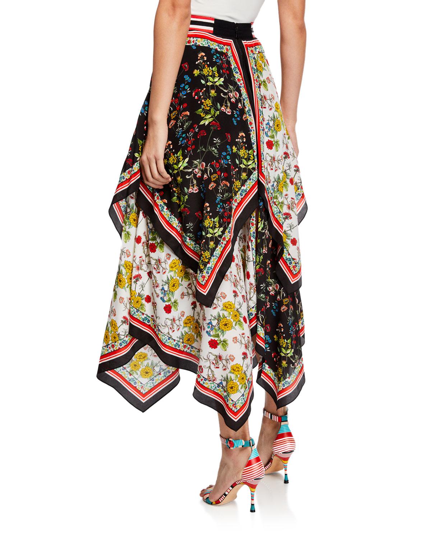 e5f5ce7beef Alice + Olivia Maura Tiered Handkerchief Skirt | Neiman Marcus