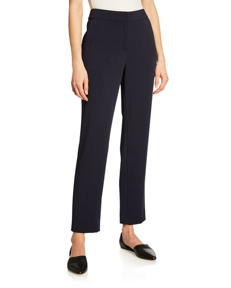 St. John Collection Emma Straight-Leg Stretch Cady Pants