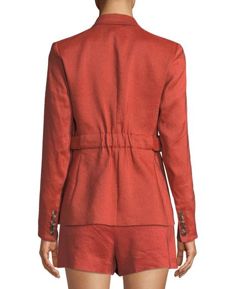 Veronica Beard Baltazar Linen Peplum Dickey Jacket