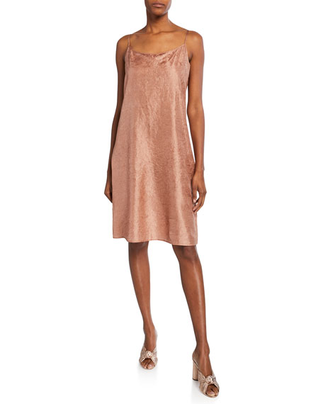 Eileen Fisher Lightweight Crushed Silk Slip Dress