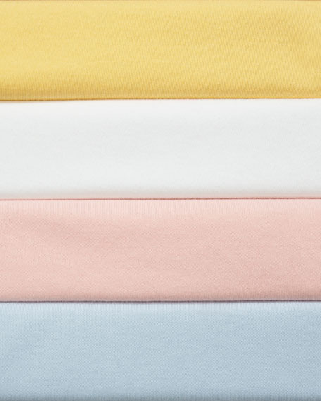 Joan Vass Long-Sleeve Cotton Interlock Top with Ruching & Tie Detail
