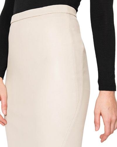 Avana Stretch Leather Pencil Skirt