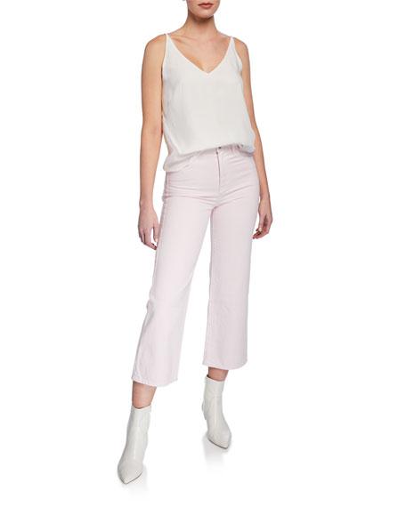 J Brand Joan High-Rise Wide-Leg Crop Jeans
