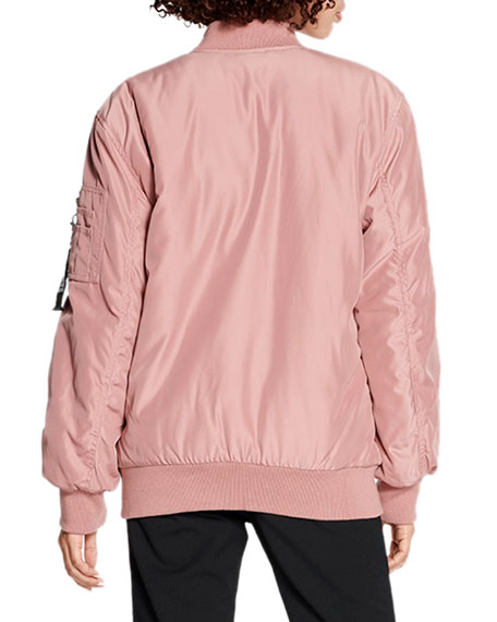 UGG Frances Zip-Front Oversized Bomber Jacket