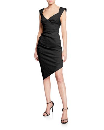 Zita Asymmetric Ruched Dress
