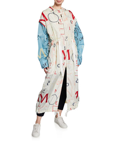 Moncler Genius Stone Embroidered Long Jacket