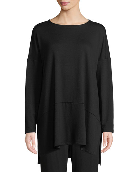 Eileen Fisher Oversized Terry Cloth Layered Tunic
