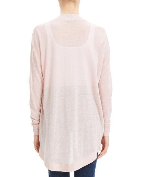 Theory Sag Harbor Open-Front Waterfall Cardigan