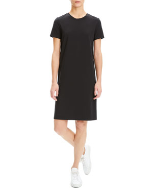 22a0e0f97c1 Theory Continuous Rubric Stretch-Knit Short-Sleeve Tee Dress