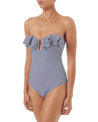 Corfu Ruffle Bandeau One-Piece Swimsuit