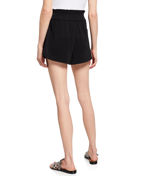 A.L.C. Auburn High-Waist Belted Shorts