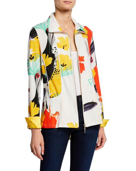 Image 1 of 4: Berek Petite Color of Sunshine Knit Zip Jacket