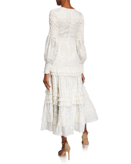 Alexis Gallinda Embroidered Maxi Dress