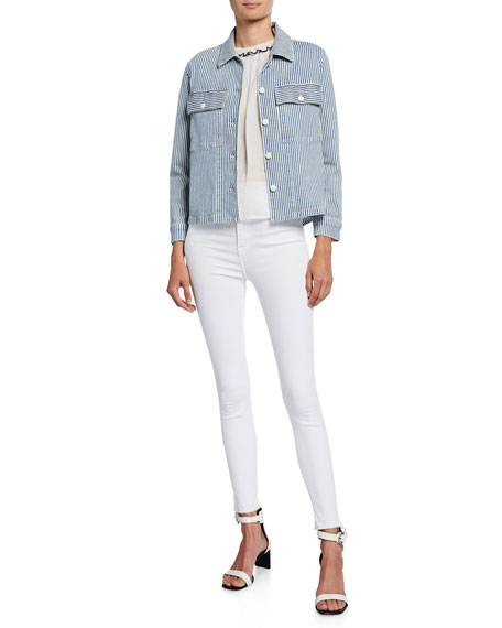 Image 3 of 3: FRAME Ali High-Rise Ankle Skinny Jeans