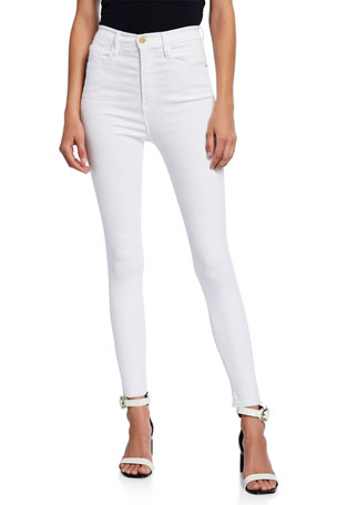 FRAME Ali High-Rise Ankle Skinny Jeans