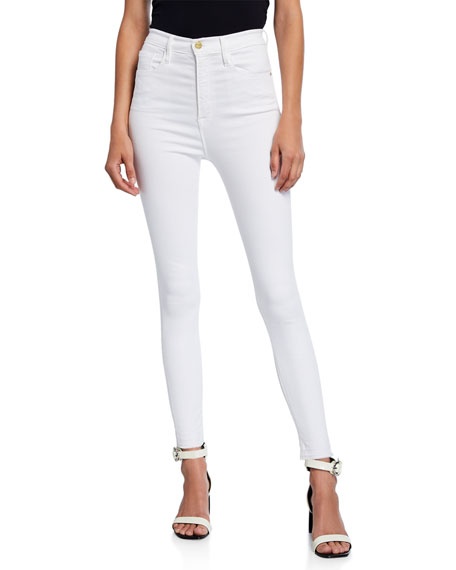Image 1 of 3: FRAME Ali High-Rise Ankle Skinny Jeans