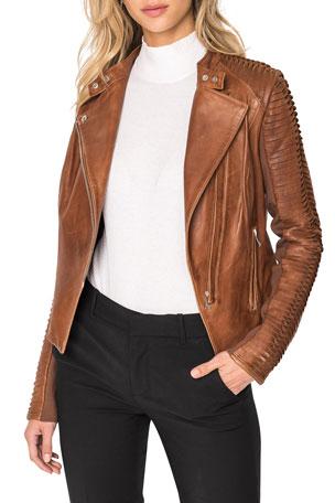 LaMarque Azra Leather Moto Jacket