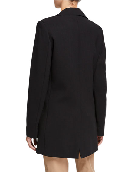 Lafayette 148 New York Beau Luxe Italian One-Button Double-Face Blazer