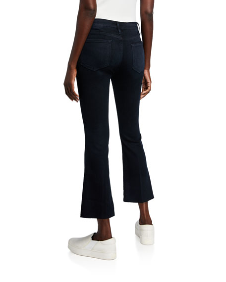 FRAME Le Crop Mini Boot-Cut Jeans with Raw Hem