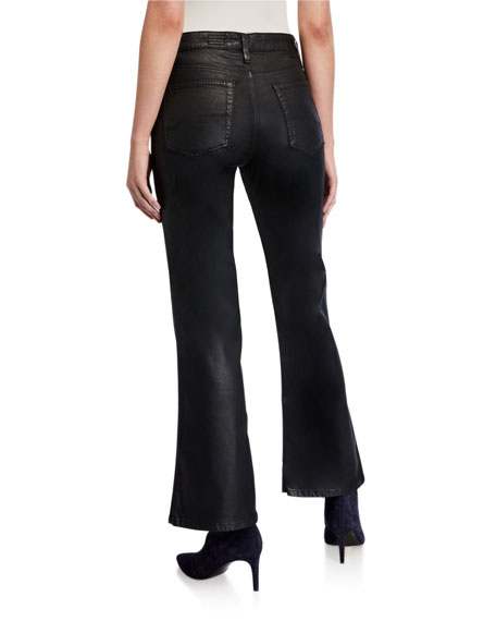 AG Quinne High-Rise Flare Crop Jeans