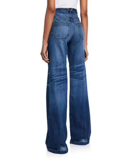 Veronica Beard Jeans Crosbie High-Rise Wide-Leg Jeans