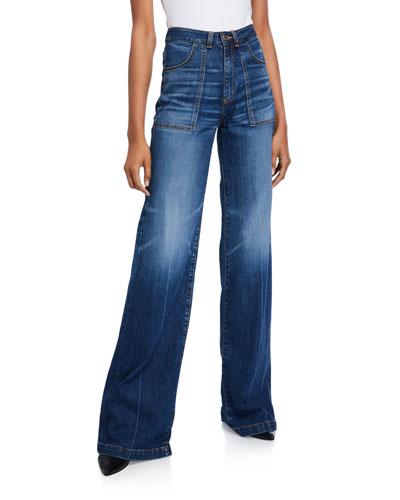 Crosbie High-Rise Wide-Leg Jeans