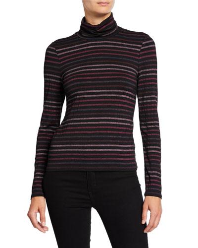 Audrey Striped Turtleneck Top