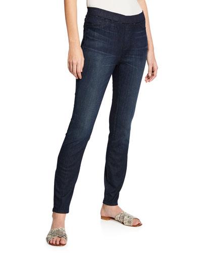 Plus Size Organic Cotton Soft Stretch-Denim Leggings