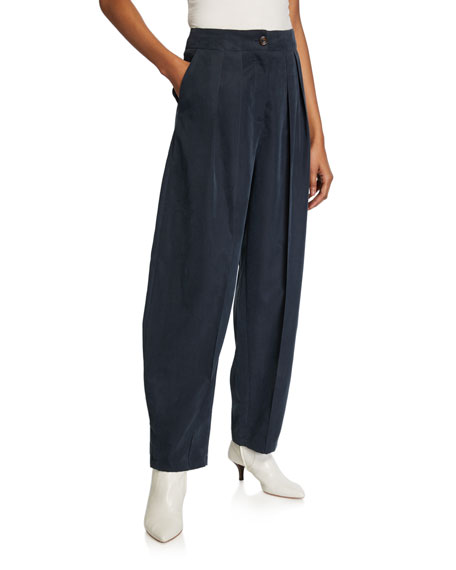 See by Chloe Pleated Wide-Leg Trousers