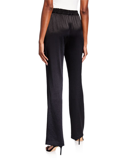 Milly Hammered Satin Track Pants