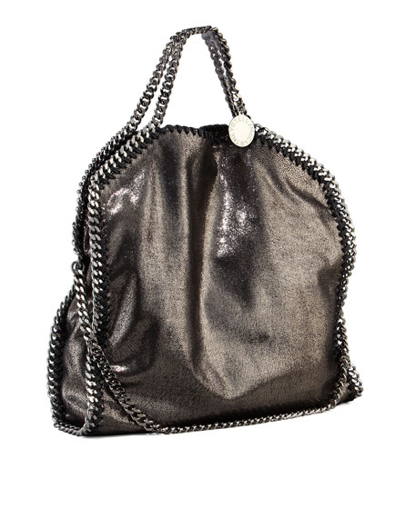 Stella McCartneyFalabella Fold Over Tote, Ruthenium