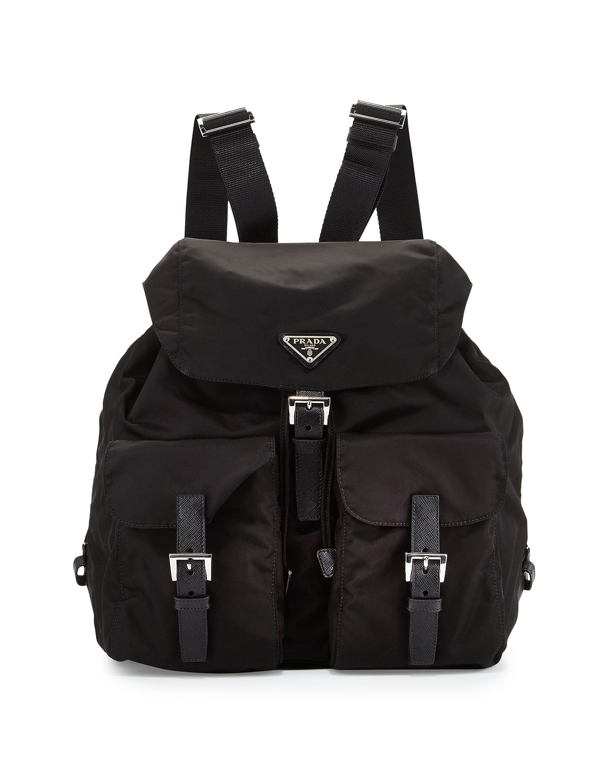 a3b0eeb7053d Prada Vela Large Two-Pocket Backpack