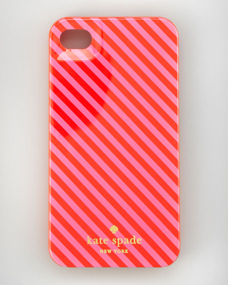 diagonal striped iPhone 4 case