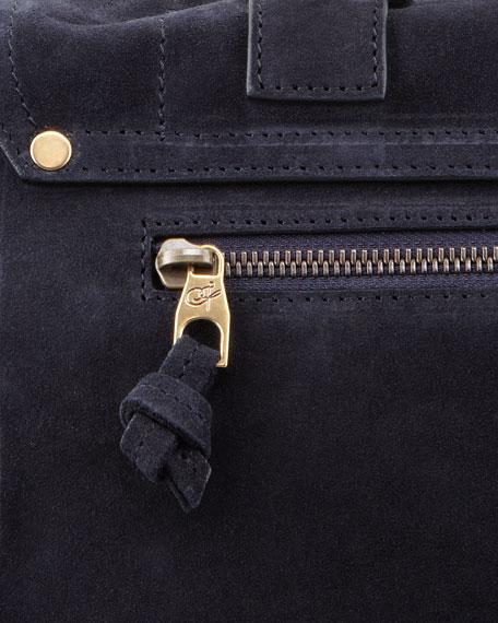 PS1 Medium Suede Satchel Bag, Navy