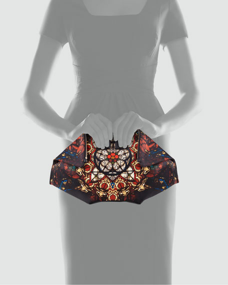 De-Manta Stained Glass Printed Clutch Bag