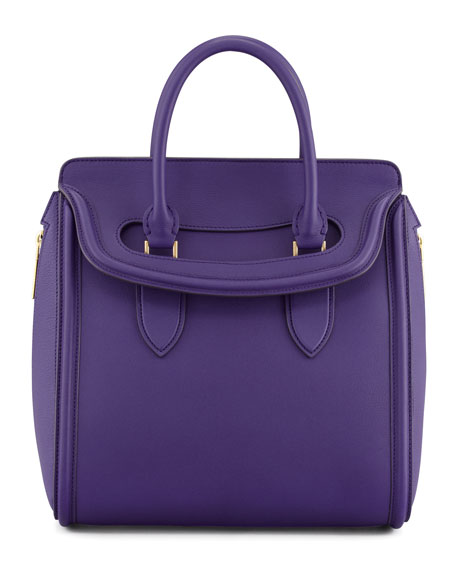 Heroine Medium Flap-Top Tote Bag, Purple